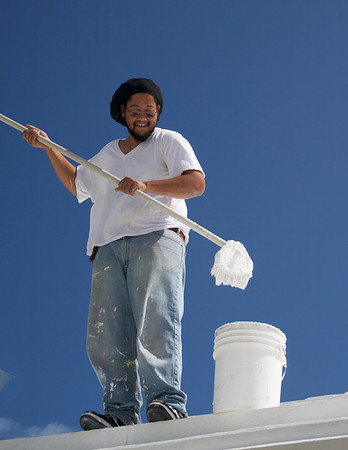 Roof Painter at the Newstead Belmont