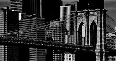 The Brooklyn Bridge as seen from the East River