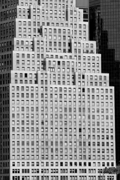 Manhattan building as seen from the Hudson
