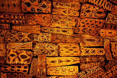 New Guinea Roof Carvings