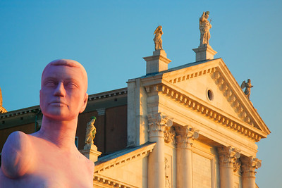 Marc Quinn's statue of Alison Lapper, placed in a piazza on the island of San Giorgio Maggiore