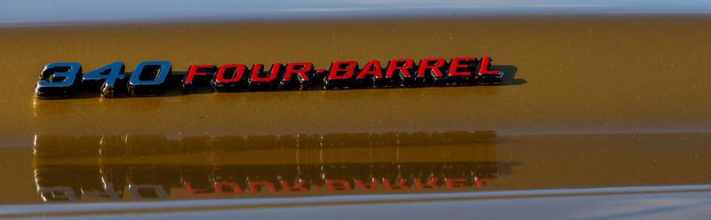 1973 Dodge Challenger hood badge