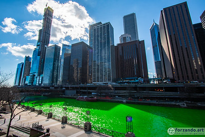 Saint Patrick's Day on the Chicago River