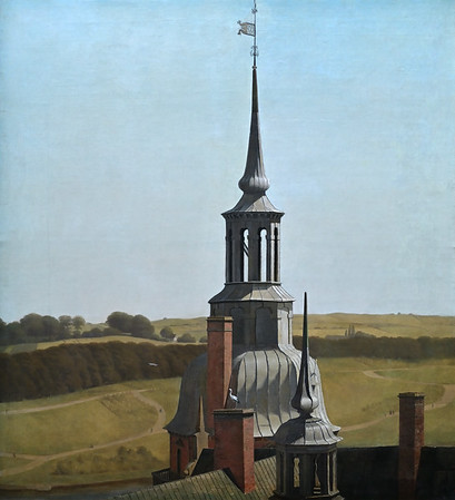 One of the Small Towers on Frederiksborg Castle (1834-1835) by Christen Købke