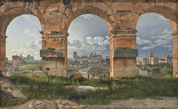 A View through Three Arches of the Coliseum in Rome (1815) by C. W. Eckersberg