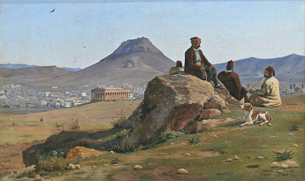 View of Athens from the south-west (1836) by Martinus Rørbye