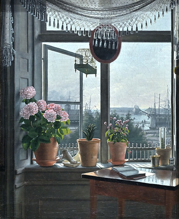 View from the Artist's Room (c.1825) by Martinus Rørbye