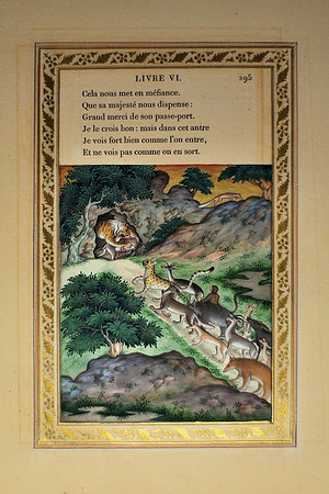 Le lion malade et le renard, illustrated by Imam Bakhsh Lahori (1837-1839)