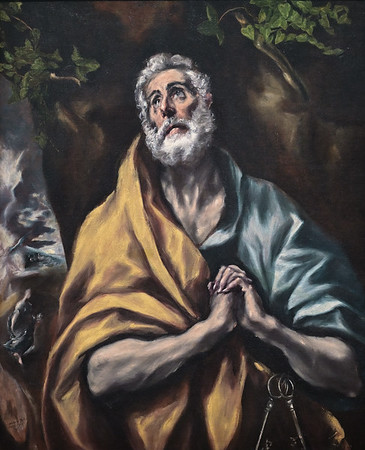 The Repentant St Peter (c. 1595-1600) by El Greco
