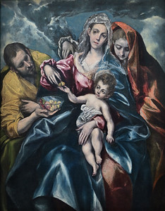 The Holy Family with Mary Magdalen (c.1600) by El Greco