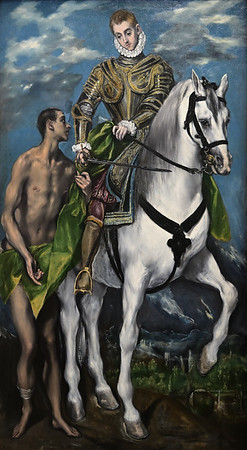 Saint Martin and the Beggar (1597-99) by El Greco