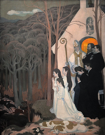 La légende de saint Hubert (1896-1897) by Maurice Denis