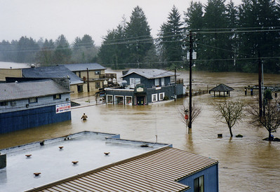 One old timer said he had never seen flood water so high.