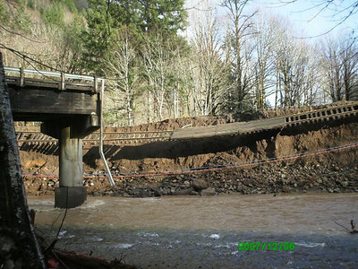 The storm of December 2007 washed out many sections of railroad and the bridge crossing the mouth of the Salmonberry River. This time damage to the rails cost too much to repair. Commissioners of the Port of Tillamook Bay decided to cease rail service.