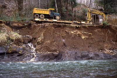The 1996 flood damaged many portions of track, but the railroad was operating again within a few months.