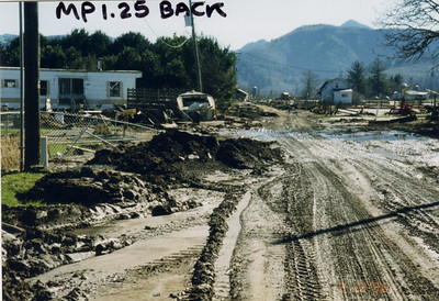 Tideland Road in February 1996 after the flood.