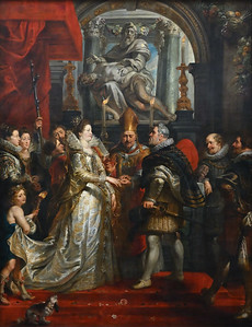 The Wedding by Proxy of Marie de' Medici to King Henry IV (1622-25) by Peter Paul Rubens