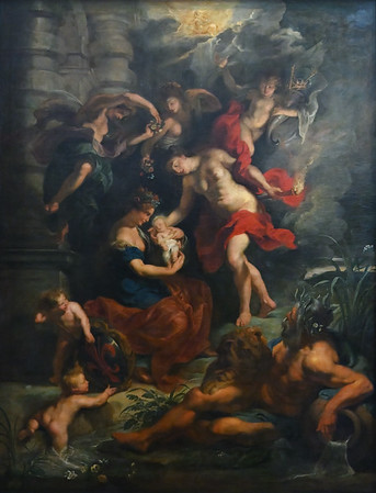 The Birth of the Princess (1622-25) by Peter Paul Rubens