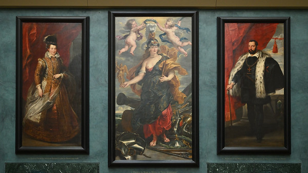 Portraits of Marie de' Medici and her parents, Joanna of Austria and Francesco I de' Medici (1622-1625) by Peter Paul Rubens