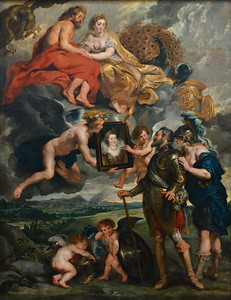 The Presentation of Her Portrait to Henry IV (1622-25) by Peter Paul Rubens