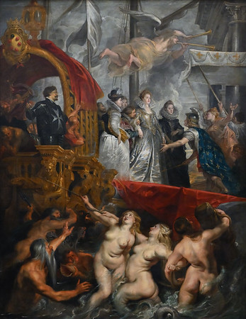 The Disembarkation at Marseilles (1622-25) by Peter Paul Rubens
