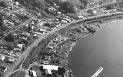 As ODOT was planning a new route for 101, it contracted for an aerial survey of the current route. This shows Wheeler in 1965.