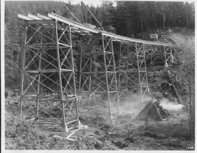 In 1938, crews finished the bridge over Necarney Creek in Os West Park.
