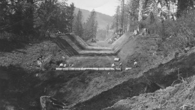 Meanwhile in the 30s crews improved the grade going north from Manzanita.