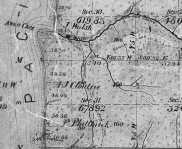 Survey maps in the early 1890s showed a trail beginning north of Arch Cape leading toward Necarney Mountain.