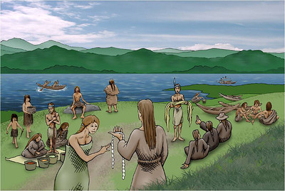 Trading on the shores of the Columbia River attracted Indians from north and south along the coast and inland as far as the gorge. Lewis and Clark and later explorers all commented about how much skill Indians showed as traders.