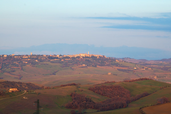 View of Pienza from Vignoni