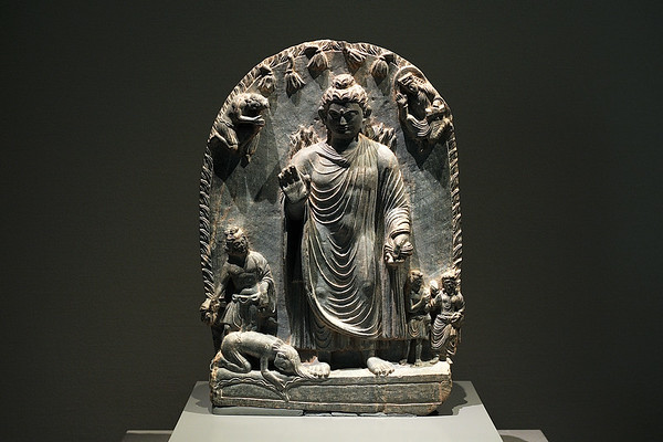 Relief with Dîpankara Jataka, Gandhara, Pakistan, 3rd–5th c. AD