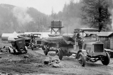 Loggers were among the first to apply the gasoline engine to their industry.