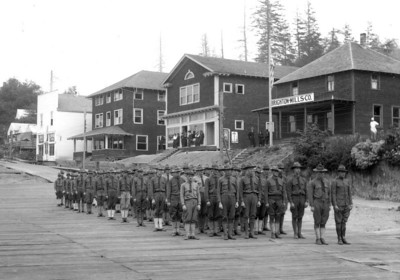 During World War One, the U S Army operated the Brighton mill to produce lumber from Sitka spruce ideal for building airplanes.