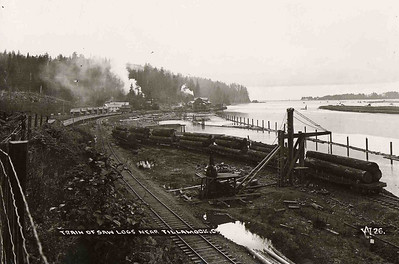 Rail cars brought logs to the mill at Wheeler and to mills at Brighton, Garibaldi and Tillamook.
