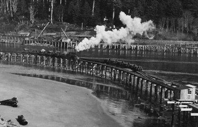 Mill operators worked with the Port of Nehalem to lobby for jetties to ensure dependable transit between bay and ocean. The U S Army Corps of engineers completed the jetties in 1917.