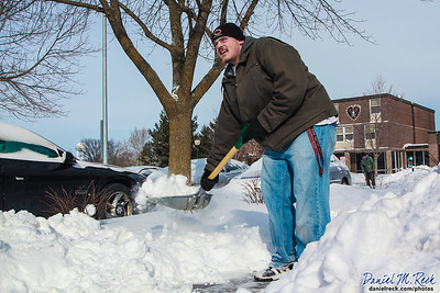 Dominic Savino Shovels out Monmouth College