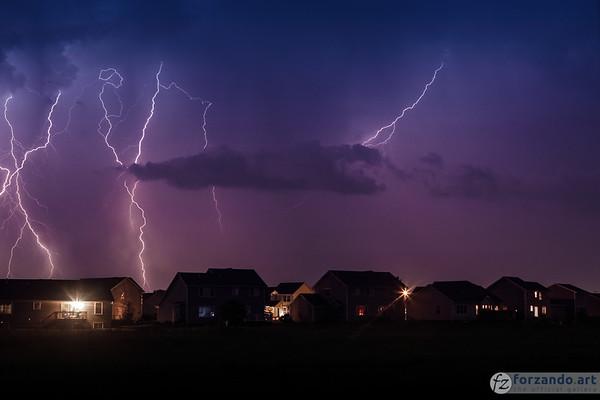 Lightning Over Marion