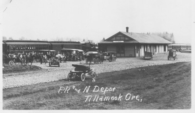 The first train reached Tillamook in November, 1911.