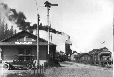 The station at Wheeler served the lumber mill and the growing town.