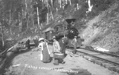 For many years, trains would stop for locals hitching rides to fish up the Salmonberry.