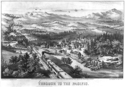 In 1869, rails finally linked California with the midwest and eastern states. Portland, Seattle, Tacoma and other cities in the northwest sought their own rail service to promote prestige and profit.