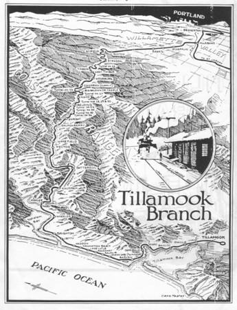 Tracks serving the Nehalem Bay area followed the Salmonberry River west from Portland, then south from Mohler through Wheeler, Rockaway and Garibaldi, to Tillamook.