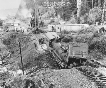 Washouts caused frequent mishaps in the early days.