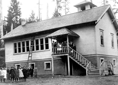 In the early 20th century, schools got bigger and the number of school districts increased. In 1930, Tillamook County had 45 school districts. The number shrank to 18 by 1945, to 13 by 1949, and to the three we have today by 1962.