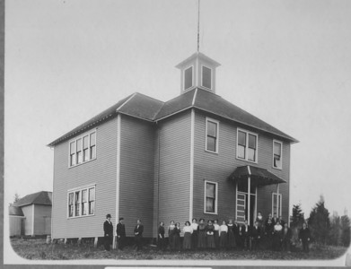 In 1907, five elementary school districts voted to form Union High School district #1 in Nehalem. Leaders of the high school district built this building in 1908. Students attended this building until construction of the new high school -- today's elementary school -- in 1925.