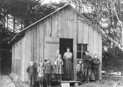 Before gasoline engines and good roads, one-room schools dotted the countryside. First in the Nehalem Bay area was the Onion Peak school on the property of Elisha Scovell near the north end of today's North Fork Road.