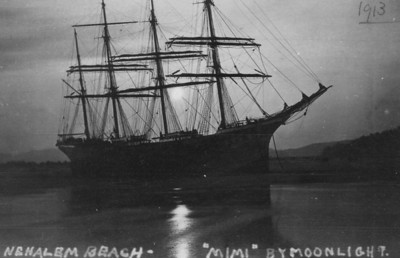 The square-rigger even posed for moonlight photos.
