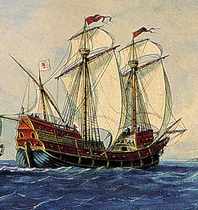 The beeswax ship probably looked much like this galleon, a Spanish ship design used for almost 200 years.