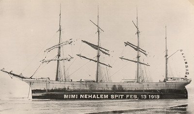 The Mimi ran aground in February 1913 about half way between Neahkahnie Mountain and the end of Nehalem spit.